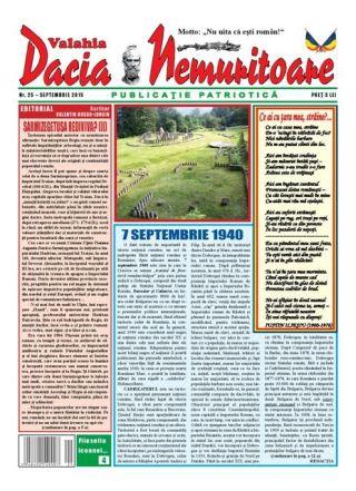 Revista ,,Dacia nemuritoare'' la numărul 25