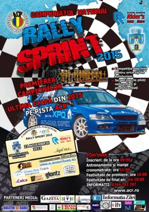 """Înscrieri pentru """"Rally Sprint"""", a cincea etapă"""