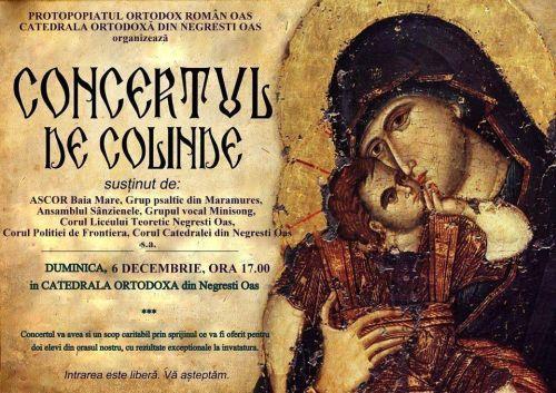 Concert extraordinar de colinde  la Catedrala Ortodoxă din Negrești-Oaș