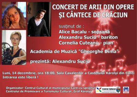 Concert de arii din opere și cântece de Crăciun