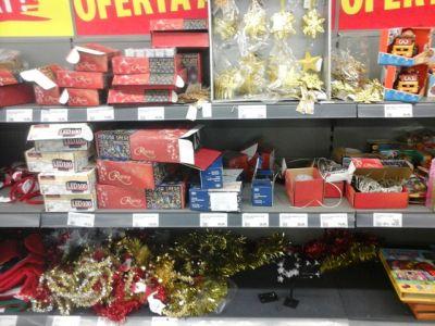 Ofertă modestă de sărbători în supermarket-urile  din Carei