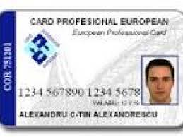 Ce este şi cum se foloseşte cardul profesional european