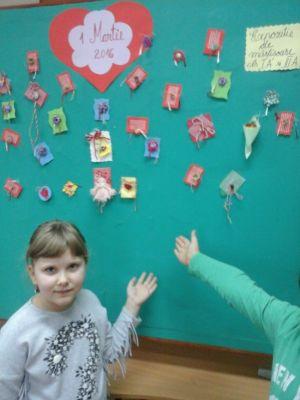 Expoziţie de mărţişoare lucrate de elevi