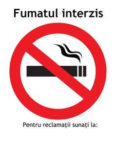 Unde se poate fuma şi unde nu.Legea antifumat intra în vigoare