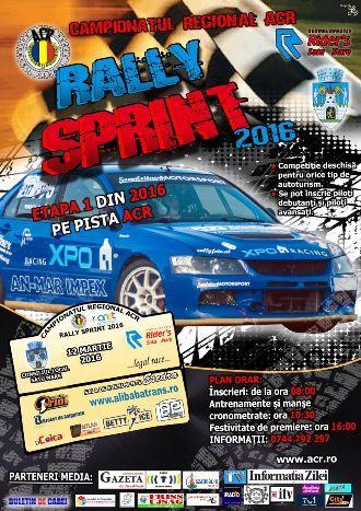 Prima etapă a Campionatului Regional ACR Rally Sprint 2016