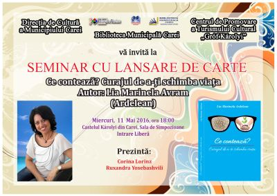 Lansare de carte si seminar