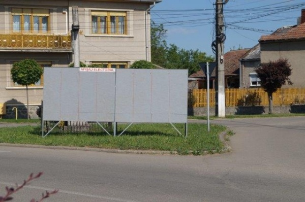 Au fost amplasate panourile de afişaj electoral în Carei