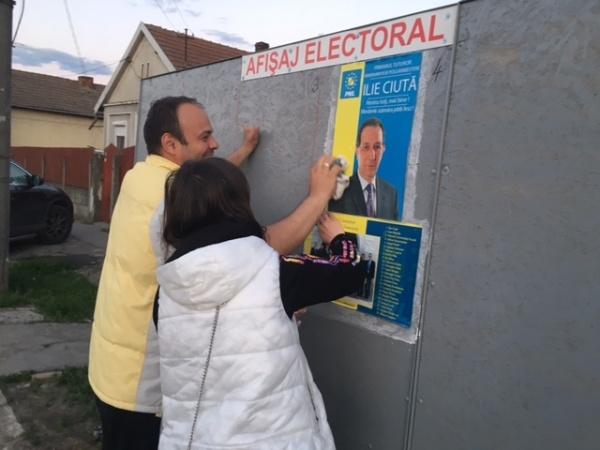 Au apărut primele afişe electorale