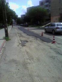 În Carei se refac asfaltările finalizate recent dar denivelate