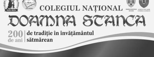 "Inscrieri pentru clasa a V-a la Colegiul Naţional ""Doamna Stanca"""