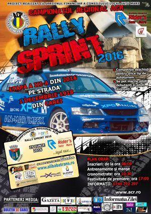 Rally Sprint revine la Carei. Ediţia a XI-a