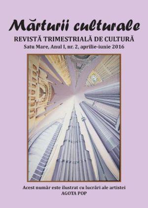 ,,Mărturii culturale'', la al doilea număr
