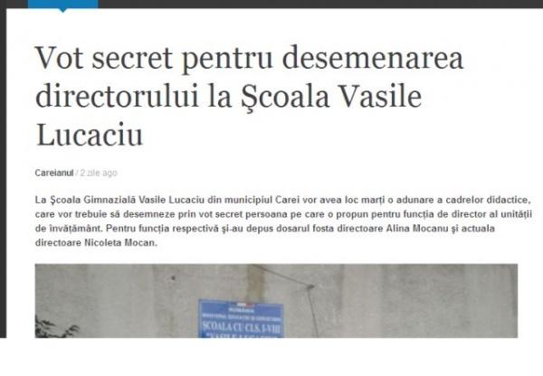 Un corigent la limba română scrie despre desemnarea directorilor de şcoli