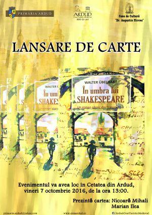 Lansare de carte în Cetatea Ardudului. Legătura dintre Wiliam Shakespeare și legendele dacilor din Maramureş şi din Nordul Transilvaniei