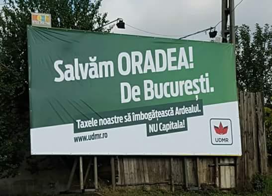 Mesajele anti-București pe panouri  fără  autorizație de construcție