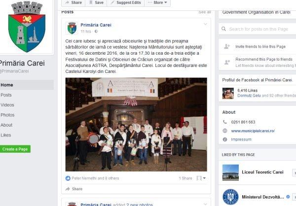 Primăria Carei refuză comentariile de mulţumire ale Asociaţiunii ASTRA Carei