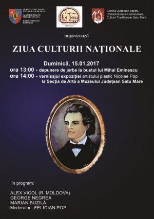 Ziua Culturii Naționale sărbătorită duminică la Satu Mare