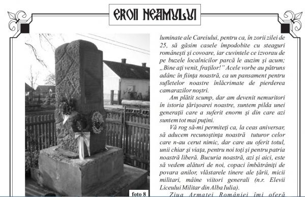 Eroii Neamului, revista ce apare prin truda col(r) Voicu Şichet