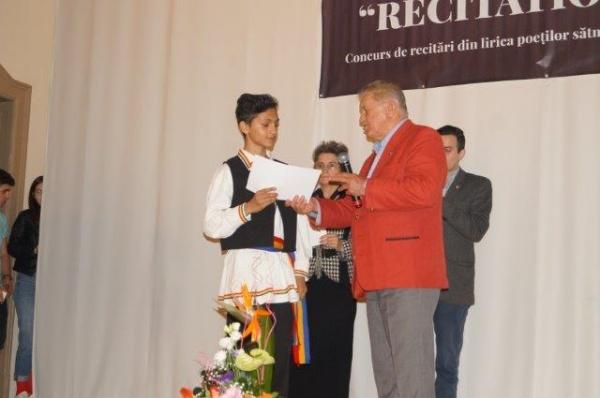 Premiul special al juriului RECITATIO revine astristului Marcel Ursan din Ianculeşti