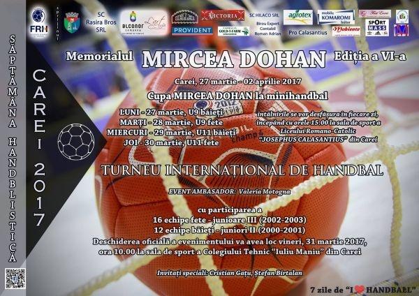 6 zile până la deschiderea oficială a Memorialului Mircea Dohan la handbal. Greii handbalului mondial vin la Carei