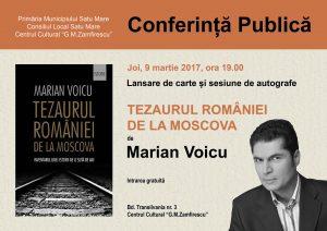 Tezaurul României de la Moscova. Lansare de carte la Satu Mare