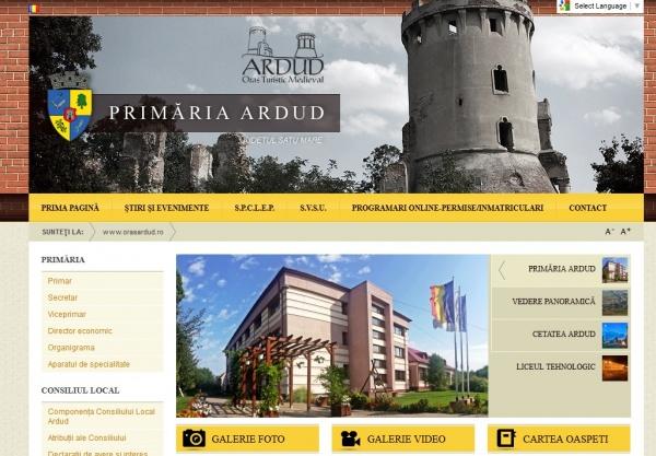 Oraşul Ardud surclasează municipiul Carei la capitolul site oficial Primărie