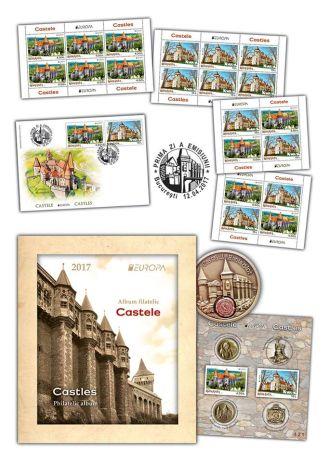 Emisiune de mărci poştale cu Castelul Károlyi şi Castelul Huniazilor