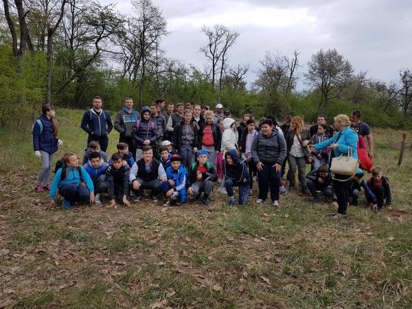 Pompierii şi elevii de la Şcoala Vasile Lucaciu Carei la plantat de puieţi