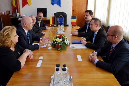 Ambasadorul  Germaniei primit de autorităţile sătmărene