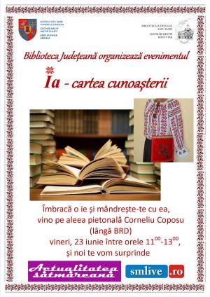 """""""Ia – cartea cunoașterii"""". Biblioteca Judeţeană marchează Ziua Naţională a Iei"""