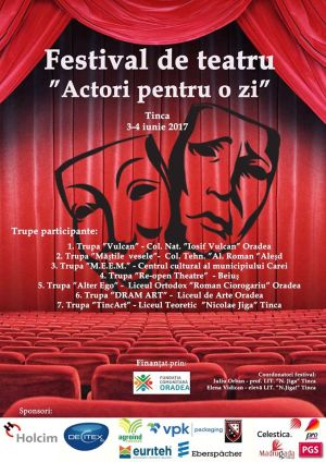 Actori careieni la Festivalul de Teatru din Tinca, Bihor