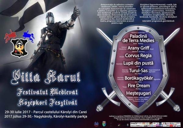 Începe CAREI FEST. Programul Festivalului Medieval