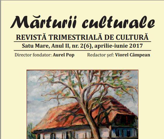 Revista Mărturii Culturale la nr.2