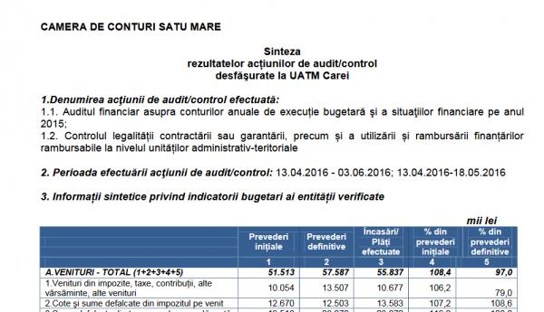 Drepturi salariale ilegale acordate de Primăria Carei sunt consemnate în Raportul Camerei de Conturi Satu Mare