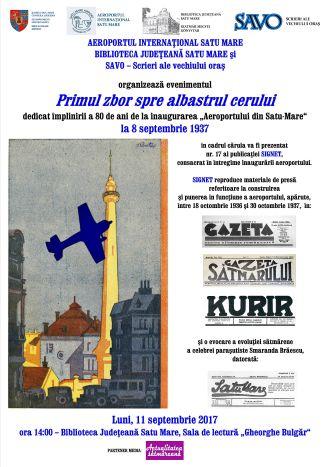 80 de ani de la inaugurarea Aeroportului din Satu-Mare. Invitație la aniversare