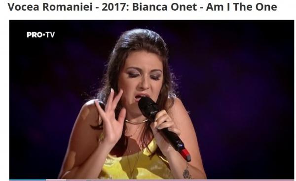 Bianca Oneț din Carei a întors toate scaunele la Vocea României