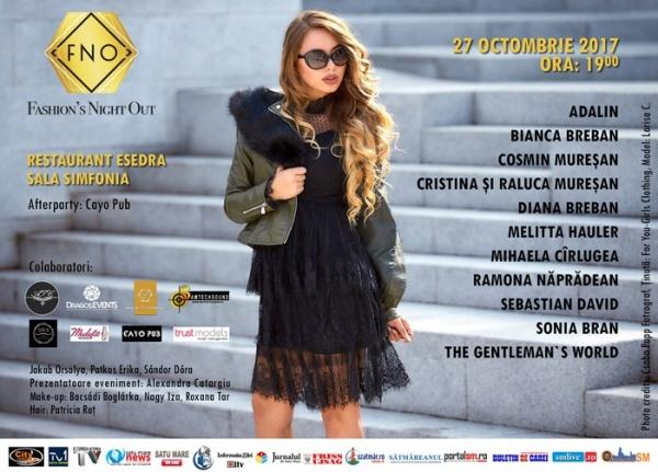 """""""Fashion's Night Out"""" la Satu Mare sau noile tendințe în materie de modă pentru sezonul de toamnă-iarnă 2017/2018"""