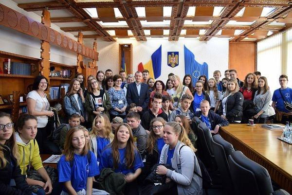 Elevi polonezi la Prefectura Satu-Mare