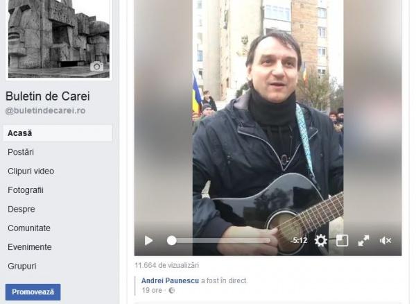 Avalanşă de aprecieri pentru clipul video cu  Andrei Păunescu la Carei