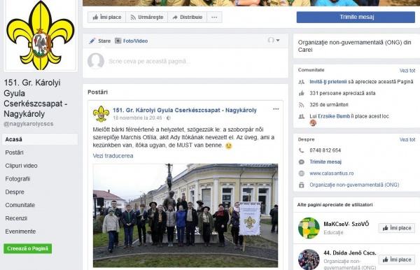 Cercetaşii şi mizerabila referire la scriitoarea româncă Otilia Marchiş