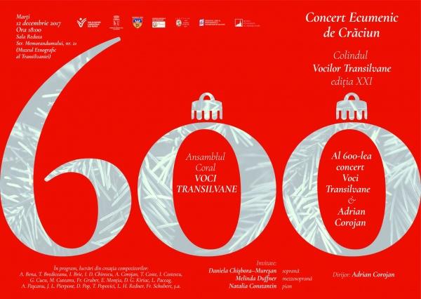 Corul Voci Transilvane la al 600 – lea concert