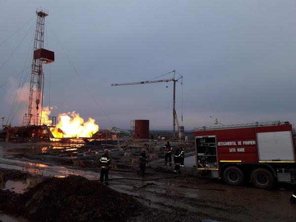 Măsuri suplimentare pentru lichidarea incendiului și eliminarea riscului de explozie la sonda de gaz din județul Satu Mare