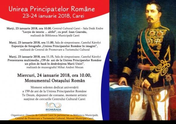 Unirea Principatelor Române sărbătorită în cerc închis la Carei