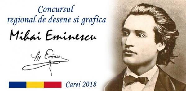 Concurs de desene şi grafică Eminescu – Carei 2018