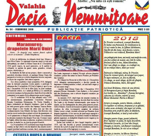 Revista Dacia Nemuritoare la numărul 54