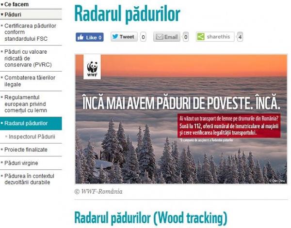 """Radarul Pădurilor. Sistem """"de urmărire a trasabilității masei lemnoase"""","""