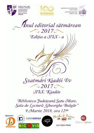 Evenimentul cultural Anul editorial sătmărean, la cea de-a XIX-a ediție
