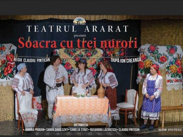 Soacra cu trei nurori, al şaselea spectacol românesc de la Carei din Anul Centenar