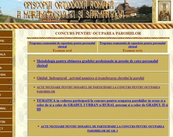 Episcopia Maramureşului şi Sătmarului nu a scos public la concurs postul vacant de la Ianculeşti