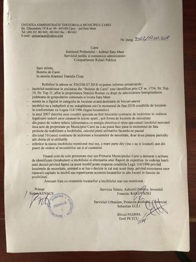 Funcţionari publici agramaţi la Primăria Carei dar care recunosc ilegalităţile
